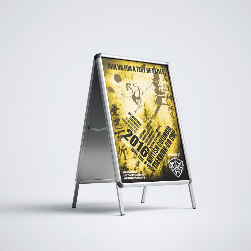 2016 BC Taekwondo Cup A-Frame Poster Sign