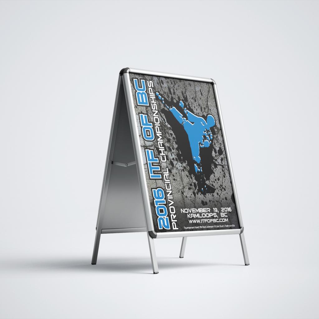 2016 BC Provincial Taekwondo Championships A-Frame Poster Sign