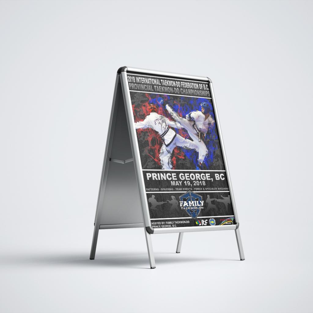 2014 BC Provincial Taekwondo Championships A-Frame Poster Sign