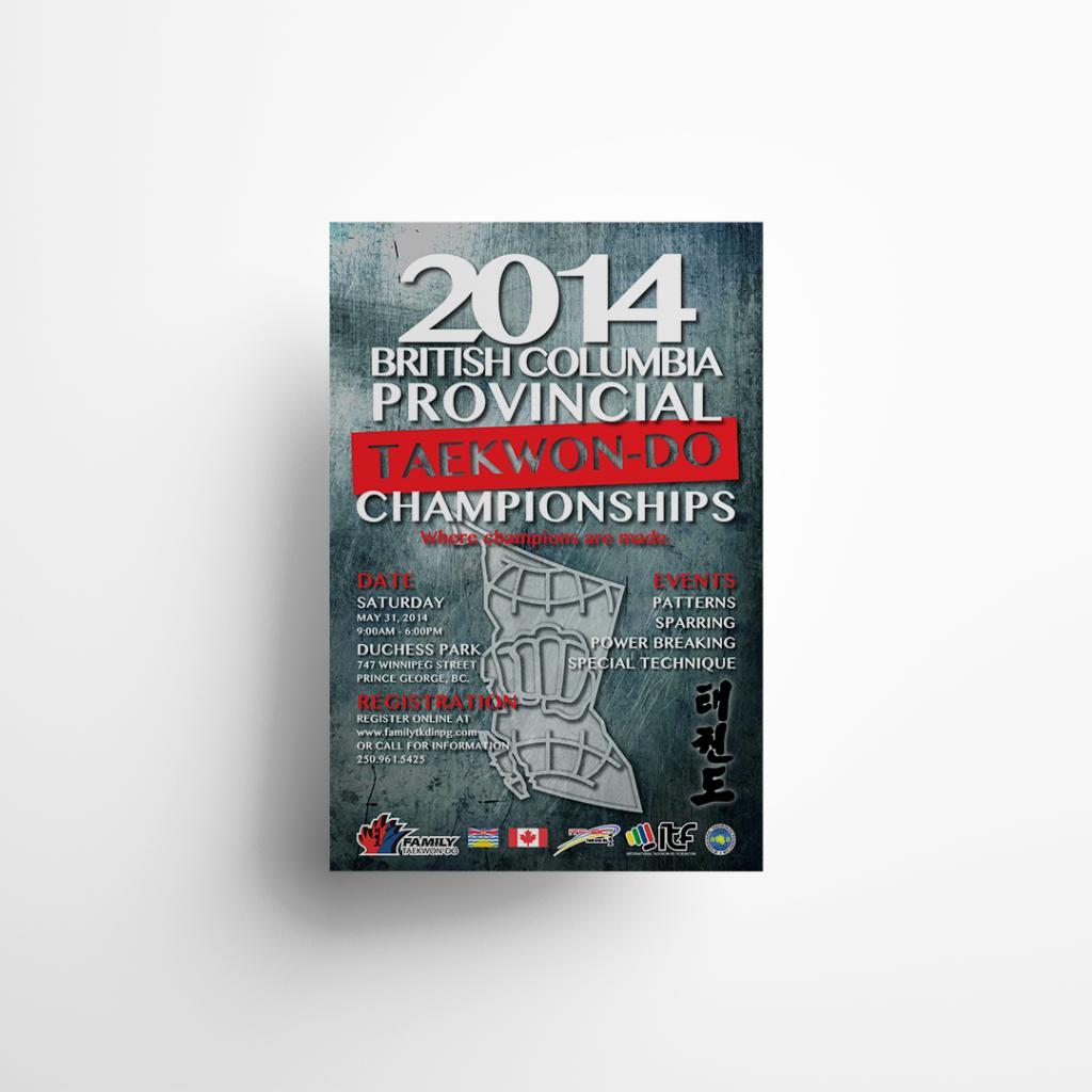 2014 Provincial Taekwondo Championships Poster Sign