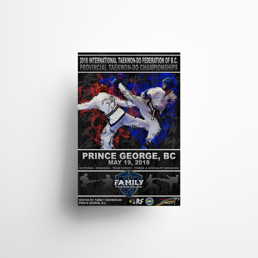 2014 BC Provincial Taekwondo Championships Poster Sign